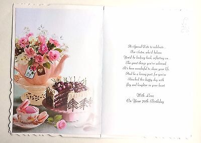 to a special sister happy 70th birthday lovely 70 birthday card