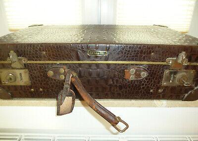 Real Volcano Fibre Suitcase um 1910 Vulcanised Fibre Travel Cases 5