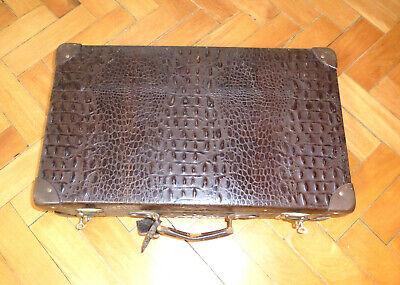 Real Volcano Fibre Suitcase um 1910 Vulcanised Fibre Travel Cases 3