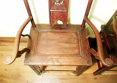 Antique Chinese High Back Chairs (Pair) (5742), Circa 1800-1849 4