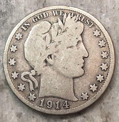 1914-S Barber Half Dollar BETTER DATE - FREE SHIPPING!!!!!!!!!!!!!! 3