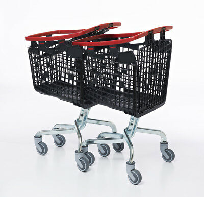 Blue Shopping Trolley Small Supermarket Cart Araven Loop Trolley 100L 3