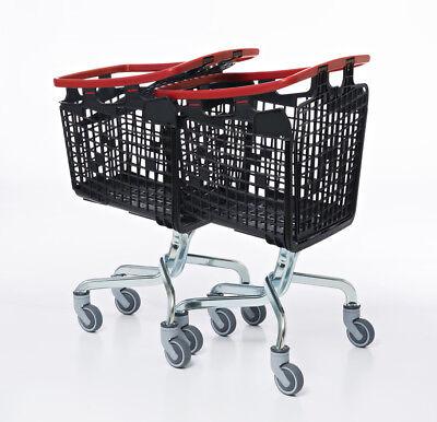 Green Shopping Trolley Small Supermarket Cart Araven Loop Trolley 100L 3