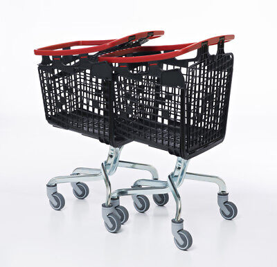 Orange Shopping Trolley Small Supermarket Cart Araven Loop Trolley 100L 3