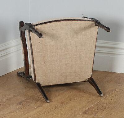 Antique French Louis XVI Style Walnut Salon Occasional Armchair (Circa 1880) 12