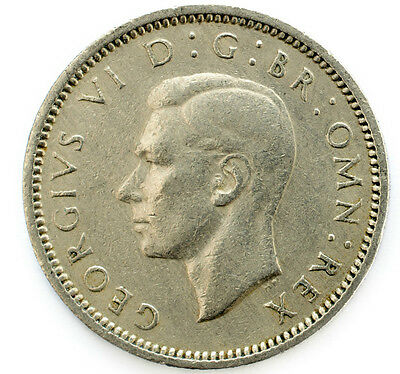 1937 To 1952 George Vi Lucky Silver Sixpences Choice Of Year / Date 2