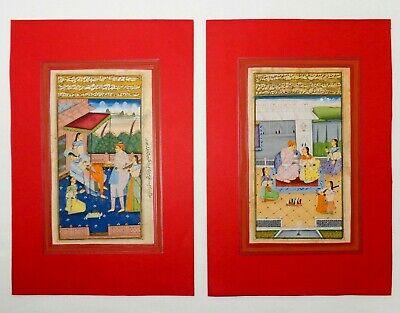 18Th-19Th C Antique Mughal (India) Miniature Illuminated Manuscript Opaque W/C 12