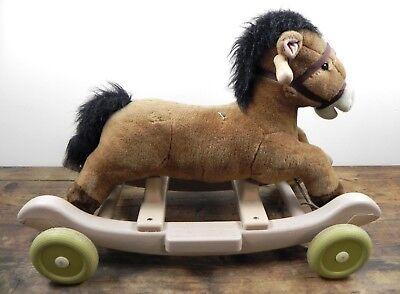 Cavallo A Dondolo Con Ruote.Cavallo A Dondolo Con Ruote Gioco Per Bambini Cavalluccio Di