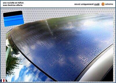 film vinyle carbone 3D poudre de diamant noir thermoformable adhésif 152cmx130cm