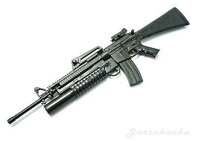 """4D assembled 1//6 M16A4 Assault Rifle US Army w Grenade Launcher Gun F 12/"""" Figure"""