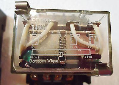 2 Omron Ly4N 24 Vdc, Contact W/Rj(Sa) Max. 10A240V 1991Y4. With Weidmuller Metal 2