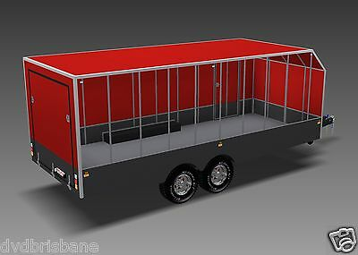 Trailer Plans - 6m ENCLOSED & 4m ENCLOSED MOTORBIKE TRAILER PLANS - on CD-ROM 3