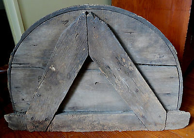 19th C WOODEN HOUSE DATE PLAQUE - W & M MEYERS 1841 4