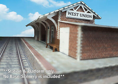 N Scale Building - Passenger Station (Cover Stock PRE-CUT Paper Kit) ST2 7
