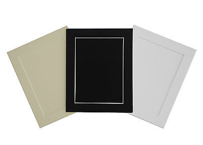 PACK OF 5 Acid Free White Bevel Cut Mounts & Backing Boards & Self Seal Bags 4