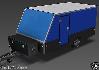 Trailer Plans - 4m ENCLOSED MOTORBIKE TRAILER - PLANS ON CD-ROM 4