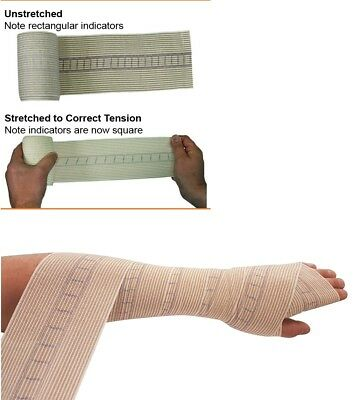 2 X Snake Bite Bandage With Compression Indicator 10Cm Width X 4.5M Stretched 4