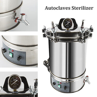 18/24L Stainless Steel Electric Autoclave Sterilizer Dental Medical Equipment 3