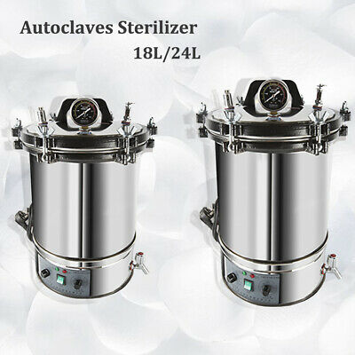 18/24L Stainless Steel Electric Autoclave Sterilizer Dental Medical Equipment 2