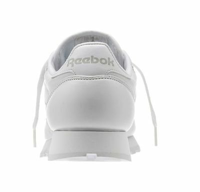 REEBOK CLASSIC LEATHER White Grey 9771 MENS CLASSIC RUNNING SHOES 4