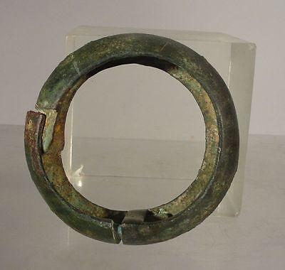 Antique Early Greco-Roman Greek Roman Bronze Band Circle Bracelet Antiquity 2