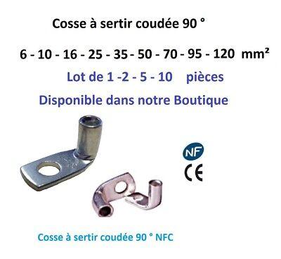 Embout de cablage, embout  fil souple isolé  0.5 mm²  à  25 mm² simple ou double 8