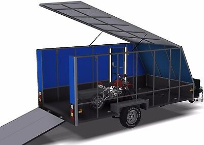 Trailer Plans - 6m ENCLOSED & 4m ENCLOSED MOTORBIKE TRAILER PLANS - on CD-ROM 10