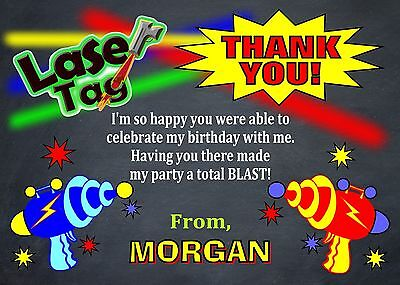 graphic relating to Laser Tag Birthday Invitations Free Printable identified as Laser Tag Invitation With No cost Thank Oneself Card Laser Tag