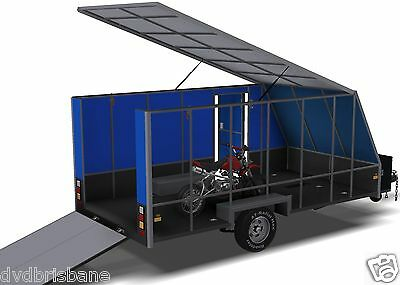 Trailer Plans - 4m ENCLOSED MOTORBIKE TRAILER - PLANS ON CD-ROM 8