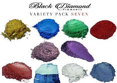 BLACK DIAMOND Mica Powdered Pigment -- Variety Pack #7 2