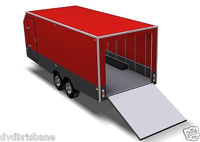 Trailer Plans - 6m ENCLOSED & 4m ENCLOSED MOTORBIKE TRAILER PLANS - on CD-ROM 4
