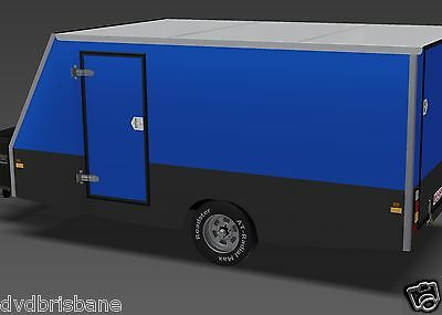 Trailer Plans - 4m ENCLOSED MOTORBIKE TRAILER - PLANS ON CD-ROM 5