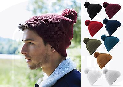 ... Pom Pom Beanie Bobble Wooly Winter Womens Mens Ladies Knitted Ski Warm  Hat 3 cf6151c2b0d