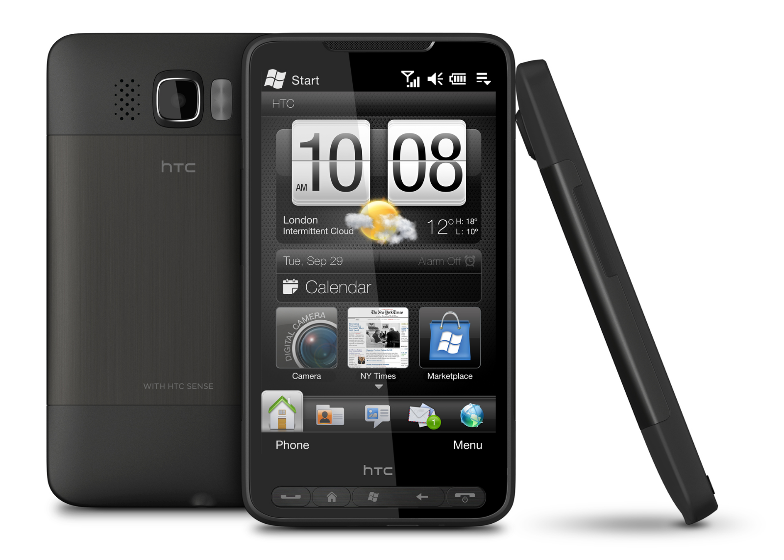 HTC HD2 Leo - Black (Unlocked) GSM 3G WiFi Windows Mobile Touch Smartphone 8