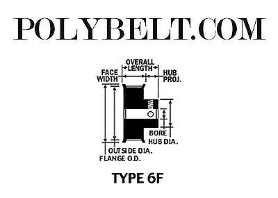 43XL037 Aluminum Timing Belt Pulley 43 Tooth 2 Set Screws 2 Flanges 3//8 Bore