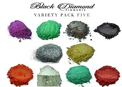 BLACK DIAMOND Mica Powdered Pigment--20 Color Variety Pack 2
