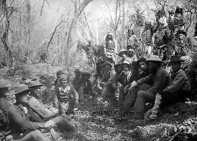 1886 Geronimo Surrender General Crook PHOTO Apache Chief Indian Native American 2