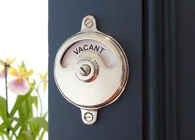 Vacant Engaged Chrome Toilet Bathroom Lock Bolt Indicator Door Restroom Lavatory 2