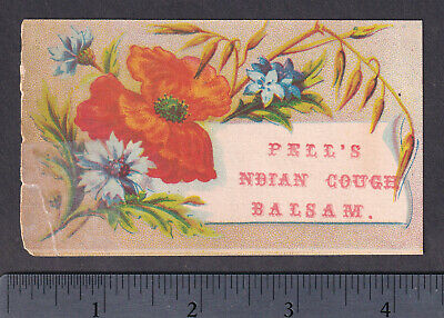 Pell's Indian Cough Balsam Cure Asthma Remedy bottle card Victorian Advertising 4