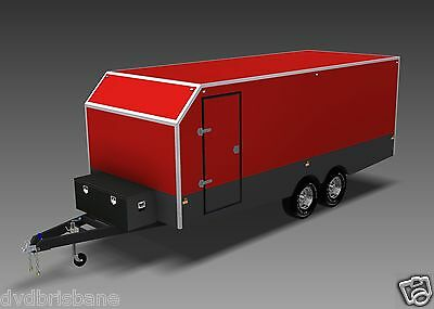 Trailer Plans - 6m ENCLOSED & 4m ENCLOSED MOTORBIKE TRAILER PLANS - on CD-ROM 2