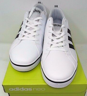 d583b10ac6c90c ... Adidas NEO Men s Pace VS Fashion Sneakers Shoes White Black Blue AW4594  NEW 2