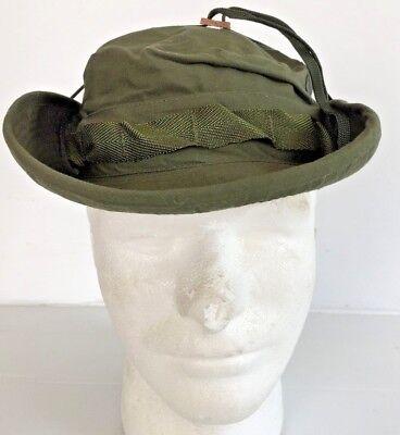 d463131478cb6 ... Unissued Original 1969 Vietnam O.d. Jungle Boonie Hat W Insect Net 6 7 8