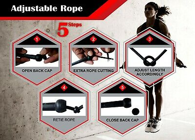 Speed Skipping Rope Boxing Jumping Crossfit Weight Loss Exercise Girls Fitness 2