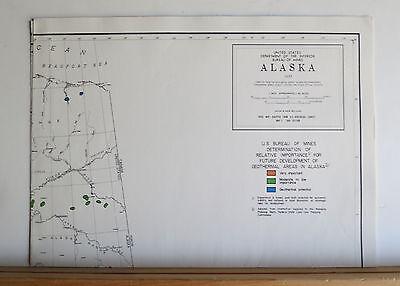 Alaska's Mineral Potential 1978 Oil Gas Geothermal Uranium Metals Coal 8 Maps 10