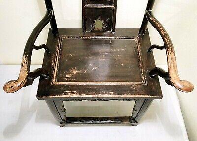 Antique Chinese High Back Arm Chairs (5755) (Pair), Circa 1800-1849 6