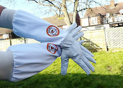 Beekeeper Bee Gloves Beekeeping gloves Goat skin Leather & 100% Cotton MEDIUM 7