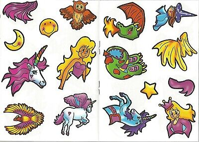 Set 2 x Children's Unicorns Colouring Puzzle Book Stickers Activity Girls Kids 3