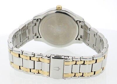 Bulova Men's 98B237 Quartz Black Dial Gold-Tone Accents Two-Tone Band 39mm Watch 4