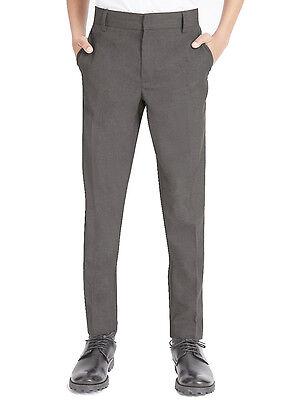 Boys Quality*-*REGULAR slim FIT SLIM LEG*Trouser*ELASTICATED waist 8-13yrs-NEW 4