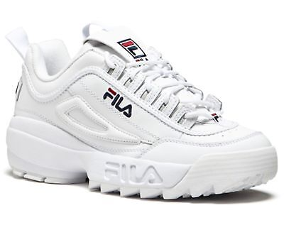 FILA DISRUPTOR II 2 White Navy Red Mens Sneakers Shoes
